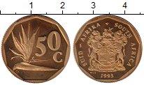 Изображение Монеты ЮАР 50 центов 1993 Латунь Proof-
