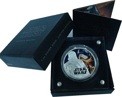 Изображение Подарочные монеты Ниуэ 2 доллара 2016 Серебро Proof Звёздные войны. Капи
