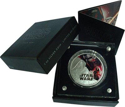 Изображение Подарочные монеты Ниуэ 2 доллара 2016 Серебро Proof Звёздные войны. Кайл