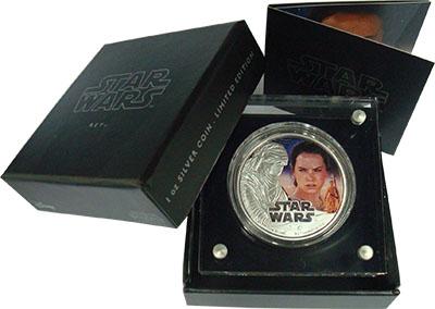 Изображение Подарочные монеты Ниуэ 2 доллара 2016 Серебро Proof Звёздные войны. Рей.