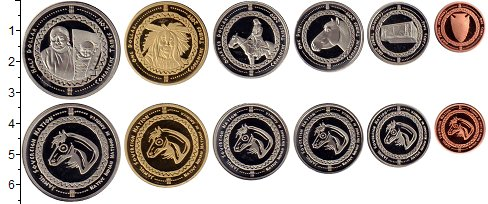 Изображение Наборы монет Резервация Хамул Индейцы 2 доллара 2019  UNC Набор монет от 1 цен