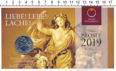 Изображение Подарочные монеты Австрия 5 евро 2019 Серебро UNC Жизнерадостность. Се