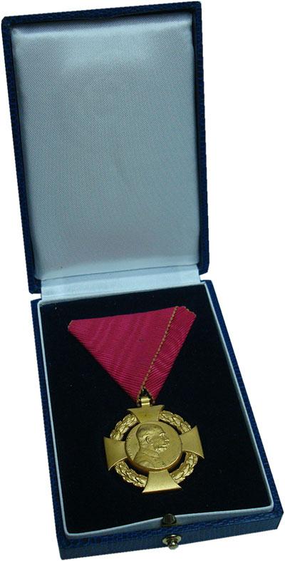 Изображение Подарочные монеты Австрия Медаль 1908 Бронза UNC 60 лет правления Фра