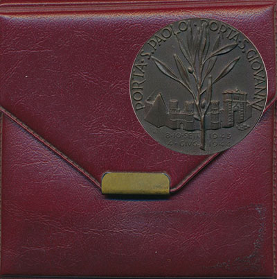 Изображение Подарочные монеты Италия Медаль 1964 Бронза UNC 20 лет Движению сопр