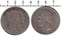 Изображение Монеты Бельгия 5 франков 1853 Серебро XF-