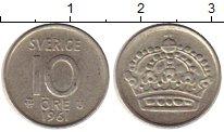 Изображение Монеты Швеция 10 эре 1961 Серебро XF