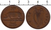 Изображение Монеты Ирландия 1/2 пенни 1942 Бронза XF