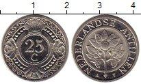 Изображение Монеты Нидерланды Антильские острова 25 центов 2010 Медно-никель Proof-