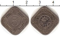Изображение Монеты Нидерланды 5 центов 1913 Медно-никель VF