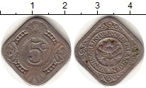Изображение Монеты Нидерланды 5 центов 1923 Медно-никель VF