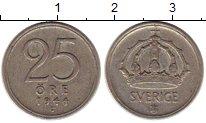 Изображение Монеты Швеция 25 эре 1944 Серебро VF