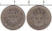 Изображение Монеты Швеция 25 эре 1919 Серебро VF