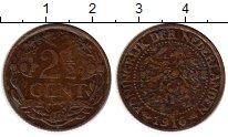 Изображение Монеты Нидерланды 2 1/2 цента 1916 Бронза VF