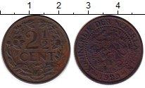 Изображение Монеты Нидерланды 2 1/2 цента 1929 Бронза VF
