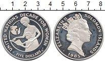 Изображение Монеты Соломоновы острова 5 долларов 1985 Серебро Proof-