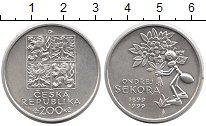 Изображение Монеты Чехия 200 крон 1999 Серебро UNC