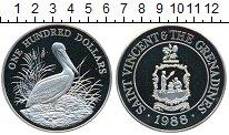 Изображение Монеты Сент-Винсент 100 долларов 1988 Серебро Proof