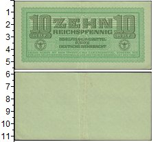 Изображение Банкноты Третий Рейх 10 пфеннигов 1944  XF