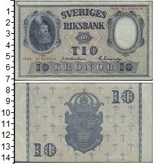 Изображение Банкноты Швеция 10 крон 1948  XF