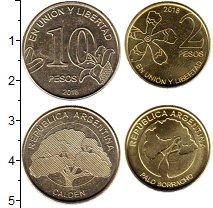 Изображение Наборы монет Аргентина Набор 2018 года 2018 Латунь UNC В наборе 2 монет ном