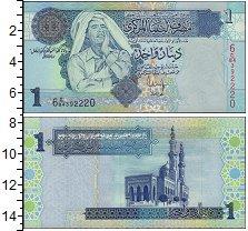 Изображение Банкноты Ливия 1 динар 2004  UNC