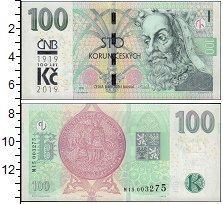 Изображение Банкноты Чехия 100 крон 2019  UNC