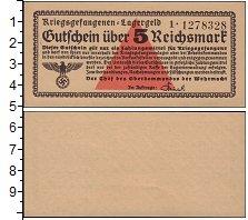 Изображение Банкноты Третий Рейх 5 марок 0  UNC
