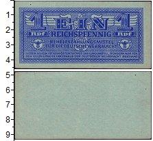 Изображение Банкноты Третий Рейх 1 пфенниг 1942  XF-