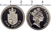 Изображение Монеты Великобритания 1 фунт 1988 Серебро Proof