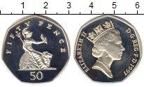 Изображение Монеты Великобритания 50 пенсов 1997 Серебро Proof-