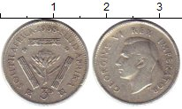 Изображение Монеты ЮАР 3 пенса 1938 Серебро XF