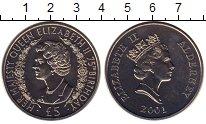 Изображение Монеты Великобритания Олдерни 5 фунтов 2001 Медно-никель UNC-