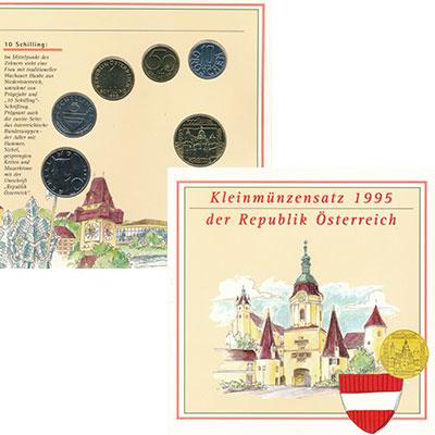 Изображение Подарочные монеты Австрия Набор 1995 года 1995  UNC В набор входят пять
