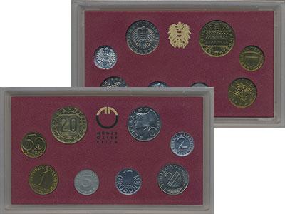 Изображение Подарочные монеты Австрия Набор 1992 года 1992  Proof В набор входят восем
