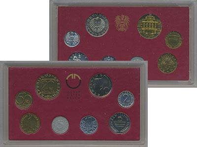 Изображение Подарочные монеты Австрия Набор 1994 года 1994  Proof В набор входят семь