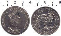 Изображение Монеты Великобритания Остров Святой Елены 50 пенсов 1986 Медно-никель UNC-