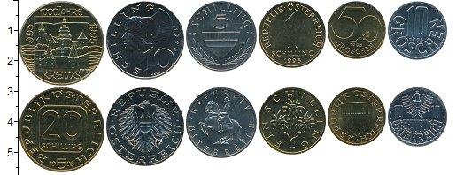 Изображение Наборы монет Австрия Набор 1995 года 1995  UNC В наборе 6 монет ном