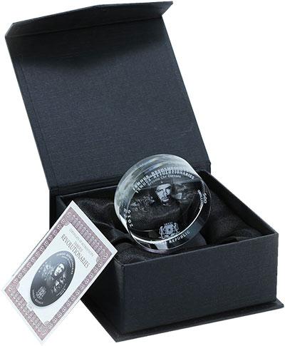 Изображение Подарочные монеты Сомали 500 шиллингов 2019 Стекло UNC Че Гевара. Монета из