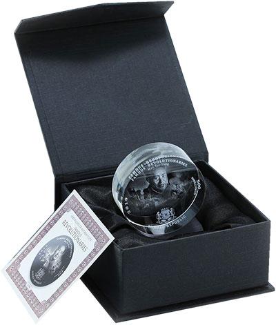 Изображение Подарочные монеты Сомали 500 шиллингов 2019 Стекло UNC Мао Цзе Дун. Монета