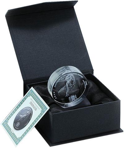 Изображение Монеты Сомали 500 шиллингов 2019 Стекло UNC Тиранозавр Рекс. Мон