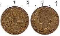 Изображение Монеты Французская Западная Африка 5 франков 1956 Латунь VF