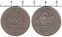 Изображение Монеты Великобритания Западная Африка 100 франков 1997 Медно-никель XF