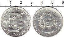 Изображение Монеты Италия 500 лир 1991 Серебро UNC