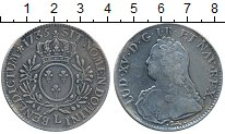 Изображение Монеты Франция 1 экю 1735 Серебро VF+