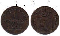 Изображение Монеты Пруссия 1 пфенниг 1821 Медь VF