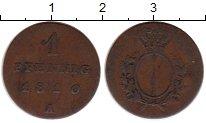 Изображение Монеты Германия Пруссия 1 пфенниг 1810 Медь VF+