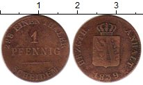 Изображение Монеты Анхальт-Бернбург 1 пфенниг 1839 Медь VF