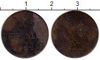 Изображение Монеты Германия Франкфурт 1 пфенниг 1822 Медь VF