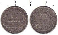 Изображение Монеты Сан-Марино 50 сентесим 1898 Серебро XF-
