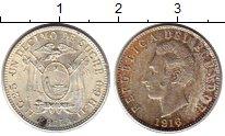 Изображение Монеты Эквадор 1/10 сукре 1916 Серебро UNC-